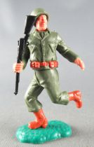 Timpo - WW2 - Americans - 2nd series - Both arms down (rifle) running legs
