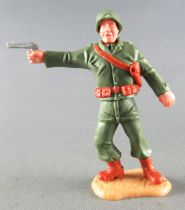 Timpo - WW2 - Americans - 2nd series - Officer with pistol standing up right legs