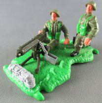 Timpo - WW2 - Anglais (Infanterie) - 2ème série - Mitrailleuse Vickers scenette (réf 1017)