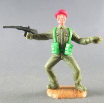 Timpo - WW2 - Anglais (Paras Béret Rouge) - 1ère série - Les 2 bras tendus (fusil) les 2 jambes pliées