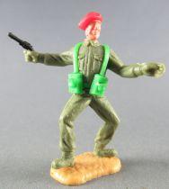 Timpo - WW2 - Anglais (Paras Béret Rouge) - 1ère série - Les 2 bras tendus (révolver) les 2 jambes pliées