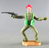 Timpo - WW2 - British (Airborne Red Beret) - 1st series - Both arms outstreched (rifle) (both legs bent