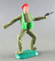 Timpo - WW2 - British (Airborne Red Beret) - 1st series - Throwing grenade (pistol) both legs bent apart