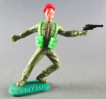 Timpo - WW2 - British (Airborne Red Beret) - 1st series - Throwing grenade (pistol) standing leaning to the legs