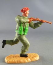 Timpo - WW2 - British (Airborne Red Beret) - 2nd series - Firing rifle runing