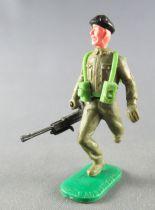 Timpo - WW2 - British (Armoured Black Beret) - 1st series - Both arms down (bren gun broken) running legs