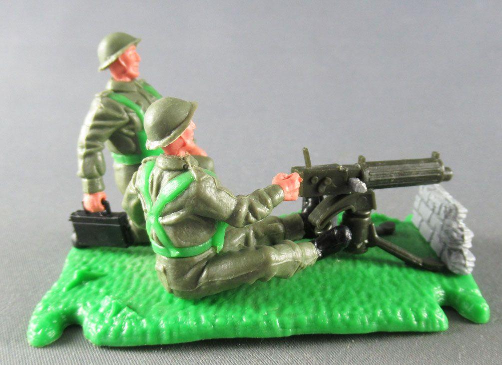 Timpo - WW2 - British Infantry - 2nd series - Vickers Machine Gun Team (ref 1017)