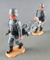 Timpo - WW2 - Germans - 2nd series (one piece head helmet) - Stretcher Team (ref 1044)