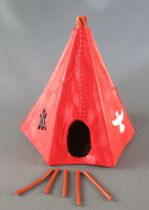 Timpo Indiens Accessoire Tippi Tente Rouge (réf 1005)
