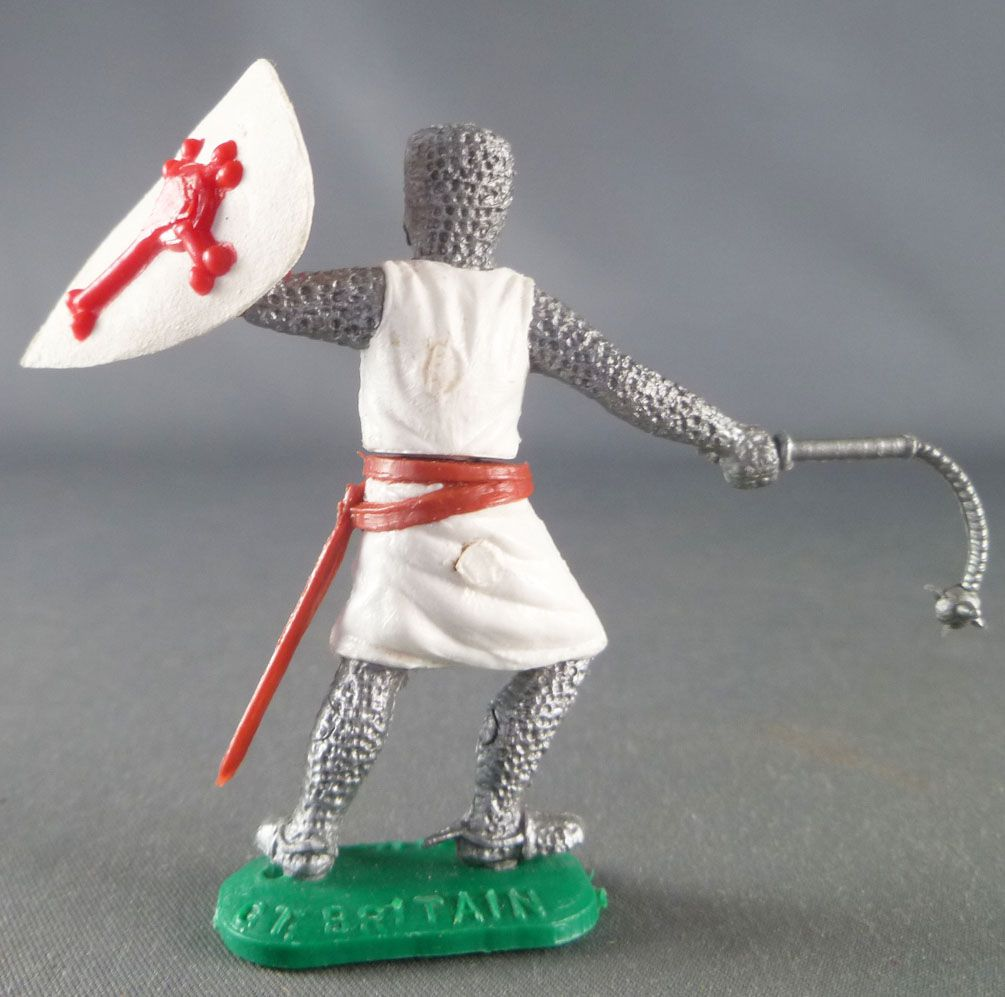 Timpo Middle-Age Crusader 1st serie footed shield up (chain mace) leaning to the right legs