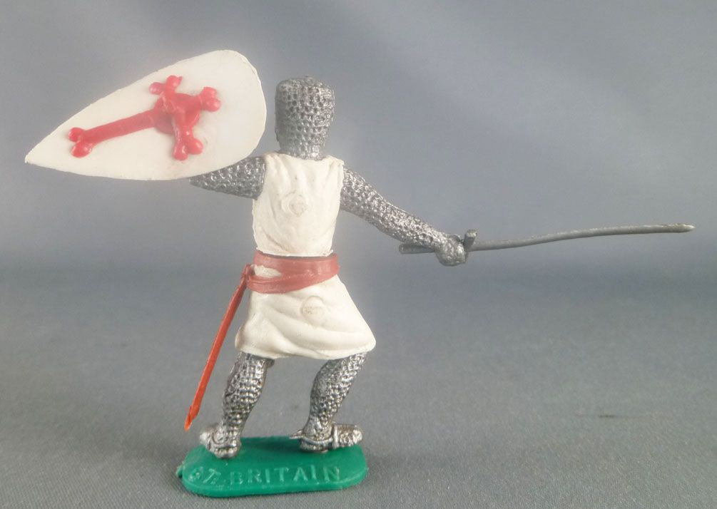 Timpo Middle-Age Crusader 1st serie footed shield up (large sword) leaning to the right legs