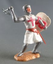 Timpo Middle-Age Crusader 2nd serie footed attacking right arm raised (axe) bent legs