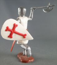 Timpo Middle-Age Crusader 2nd serie footed attacking right arm raised (axe) running legs