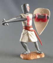 Timpo Middle-Age Crusader 2nd serie footed both arms outstretched (sword) leaning to the right legs