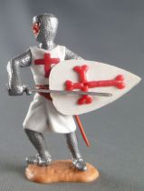 Timpo Middle-Age Crusader 2nd serie footed holding sword accross waist leaning to the right legs