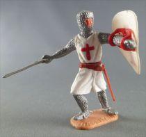 Timpo Moyen-Age Croisé 1ère série piéton les 2 bras tendu (épée) jambes avançantes