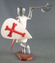 Timpo Moyen-Age Croisé 2ème série piéton bras droit levé (hache) jambes courantes