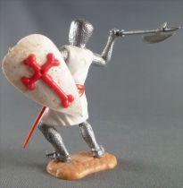 Timpo Moyen-Age Croisé 2ème série piéton bras droit levé (hache) jambes pliées