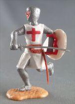 Timpo Moyen-Age Croisé 2ème série piéton épée devant lui jambes courantes