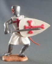 Timpo Moyen-Age Croisé 2ème série piéton épée devant lui jambes pliées