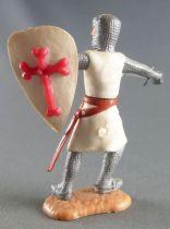 Timpo Moyen-Age Croisé 2ème série piéton les 2 bras tendus (épée) jambes penchées vers la droite