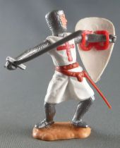 Timpo Moyen-Age Croisé 2ème série piéton les 2 bras tendus (épée) jambes pliées