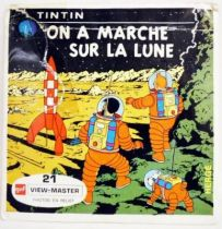 Tintin  - Set of 3 discs View Master 3-D - We walked on the Moon