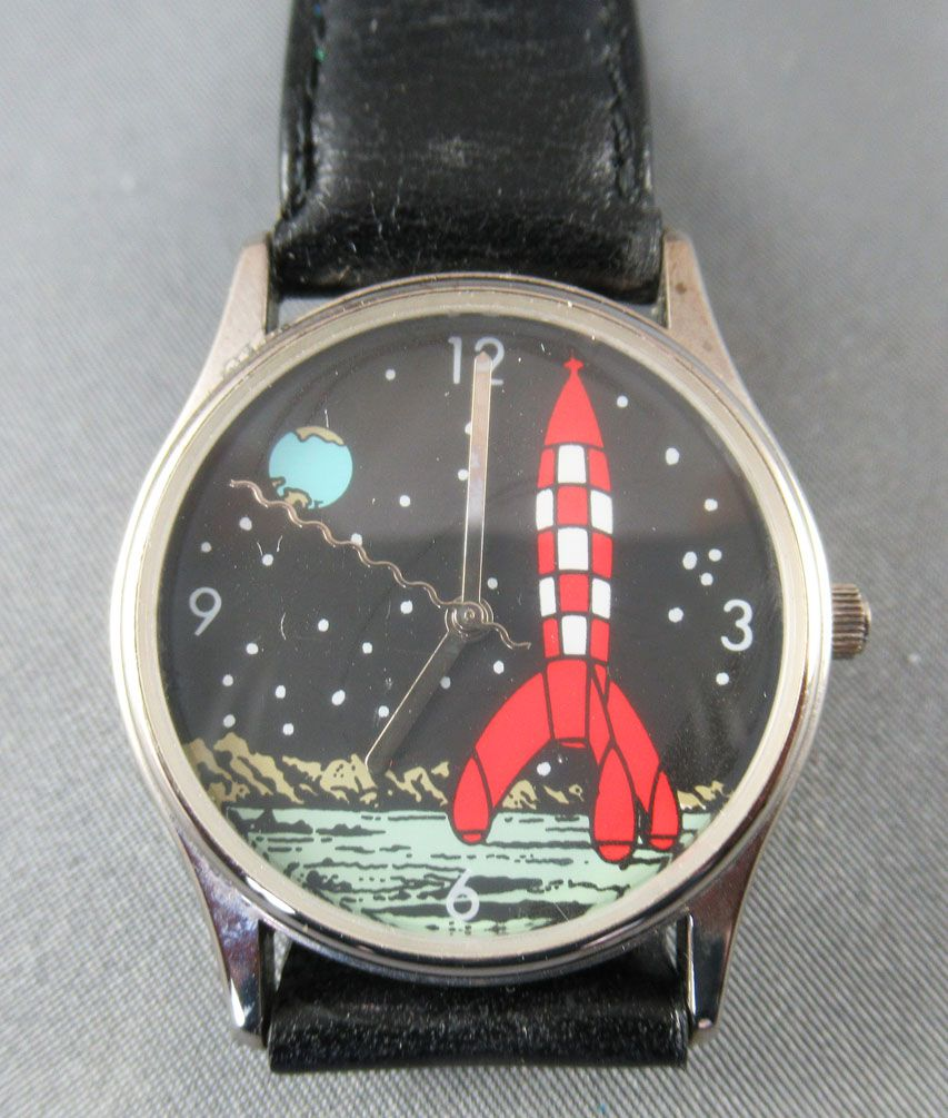 Tintin - 1997 Casterman Public Game Citime Wrist Watch - Destination Moon