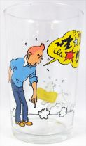 Tintin - Amora mustard glass - Tintin scolds Snowy
