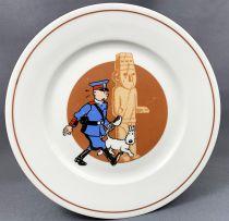 Tintin - Assiette Porcelaine Tables & Couleurs - L\'Oreille Cassée