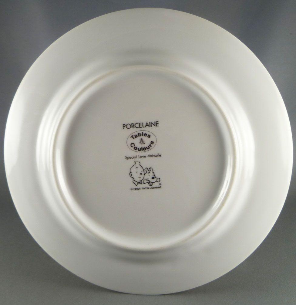 Tintin - Assiette Porcelaine Tables & Couleurs - Le Secret de la Licorne