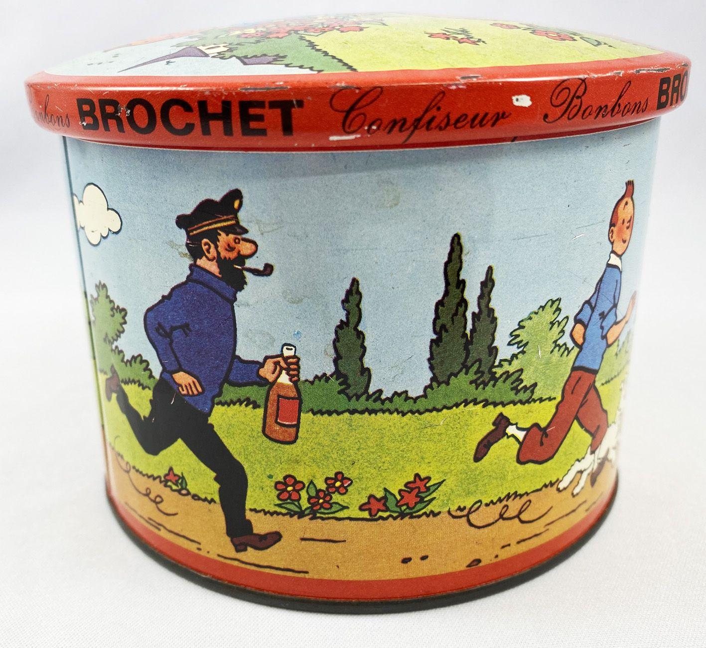 Tintin - Boite à bonbons en métal - Brochet 1965