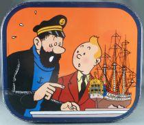 Tintin - Boite à gâteaux carrée coins ronds Delacre - Le Secret de la Licorne