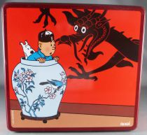 Tintin - Boite à gâteaux carrée Delacre - Le Lotus bleu