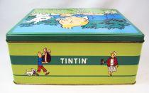 Tintin - Boite à gâteaux carrée Delacre - Tintin et Milou au Printemps #2