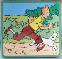 Tintin - Boite à gâteaux carrée Delacre - Tintin et Milou