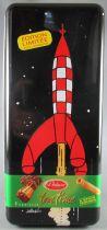 Tintin - Boite à gâteaux rectangulaire Delacre - Fusée On a marché sur la Lune
