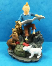 Tintin - Chaoer Comics Scenes - Tintin in the mountains