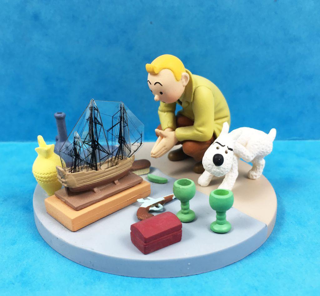 Tintin - Coffret Scène Moulinsart - Tintin au Marché aux Puce