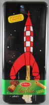 Tintin - Delacre Tin Cookie Box (Rectangular) - Rocket from Explorers on the Moon