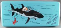 Tintin - Delacre Tin Cookie Box (Rectangular) - Tintin and the Submarine
