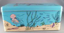 Tintin - Delacre Tin Cookie Box (Rectangular) - Tintin and the Submarine