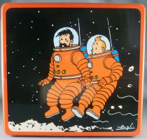 Tintin - Delacre Tin Cookie Box (Square) - On a marché sur la Lune