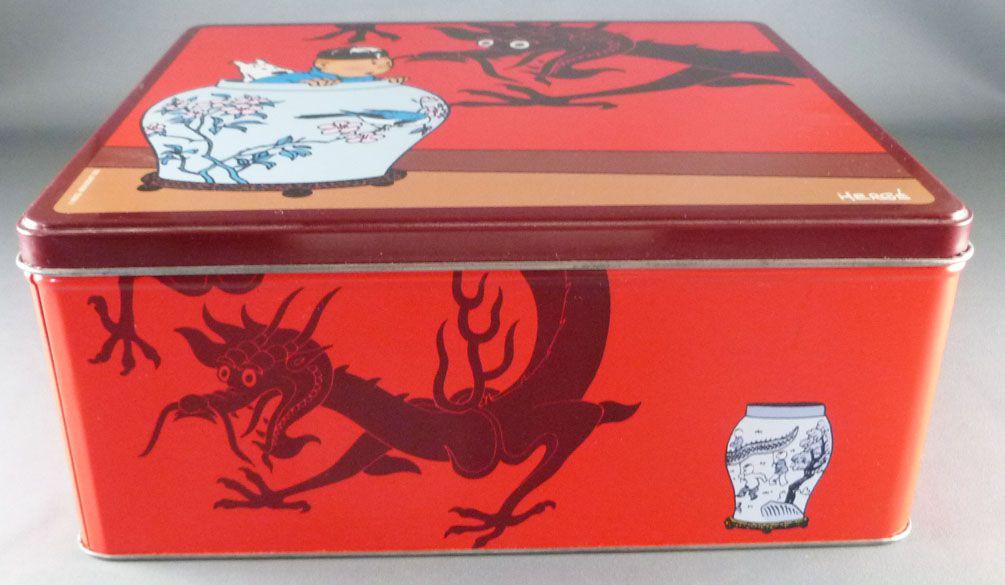 Tintin - Delacre Tin Cookie Box (Square) - The Blue Lotus