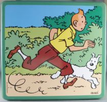 Tintin - Delacre Tin Cookie Box (Square) - Tintin & Snowy