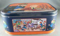 Tintin - Delacre Tin Cookie Box (Square rond corners) - The Crab with the Golden Claws The Secret of the Unicorn