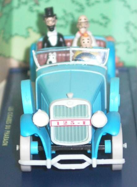 Tintin - Editions Atlas - N° 05 Mint in box Lincoln Torpédo from The Pharao\'s cigars