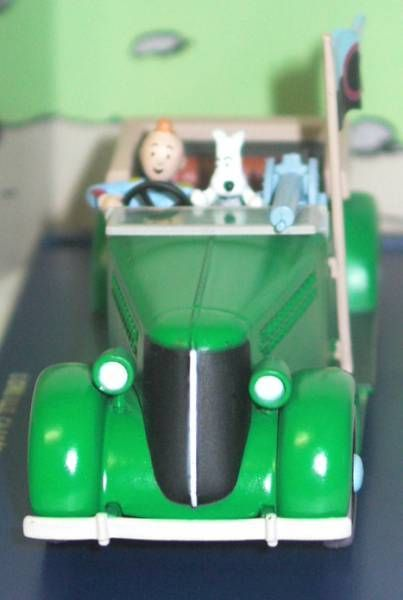 Tintin - Editions Atlas - N° 08 Mint in box green armored car from The broken hear