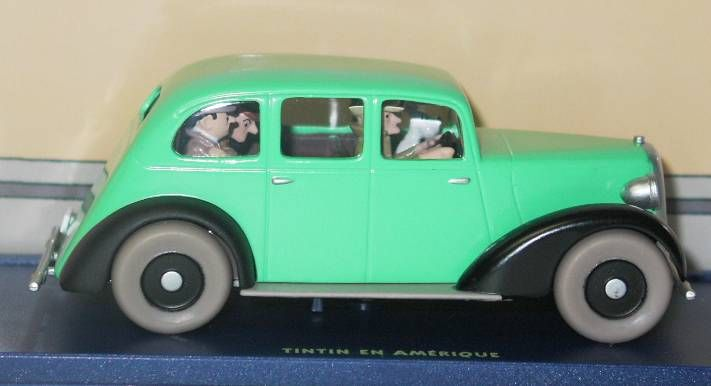 Tintin - Editions Atlas - N° 58 Mint in box Gangster\'s green car from The red sea sharks