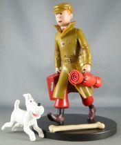 """Tintin - Figurine Plastique 17 cm ML 12 - Tintin & Milou \""""Ils Arrivent!!\"""" Le Petit Vingtième"""